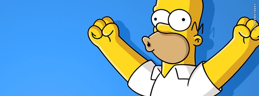 Homer Simpson Woohoo Facebook Cover