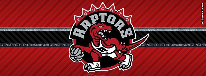Toronto Raptors Striped Facebook Cover