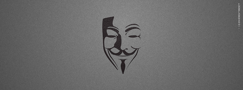 Anonymous Mask Facebook Cover