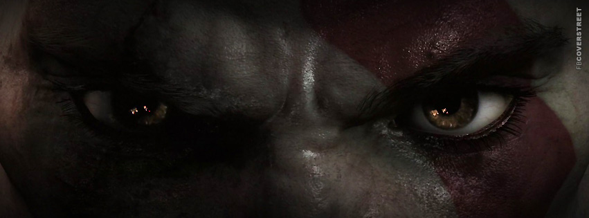 God of War Kratos Eyes Facebook Cover