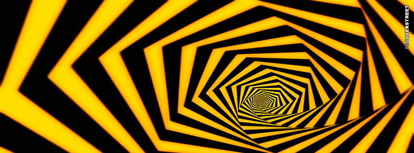 Bumble Bee Spiral  Facebook cover