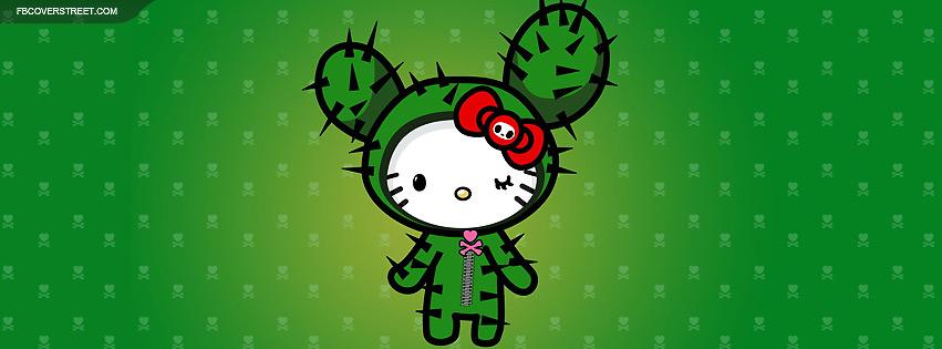 Hello Kitty Cactus Facebook Cover
