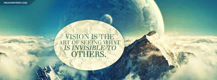 The Art of Vision Quote Facebook cover