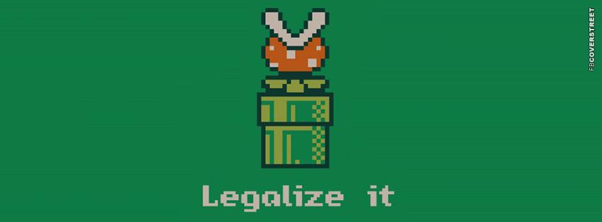 Legalize It Mario Plant  Facebook cover