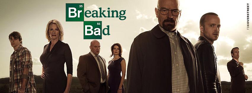 Breaking Bad Season 5 Main Cast Facebook Cover