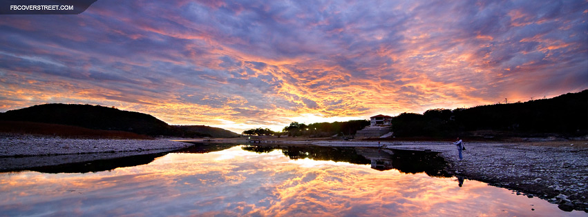 Austin Texas Lake Travis Sunset  Facebook Cover