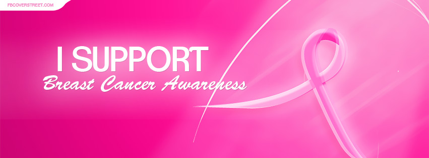 I Support Breast Cancer Awareness Facebook Cover