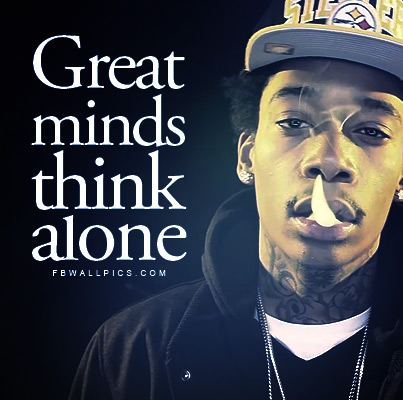 Wiz Khalifa Great Minds Quote Facebook picture