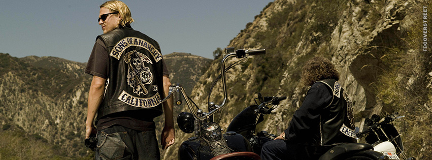 Jax Teller and Bobby Sons of Anarchy Photograph Facebook cover
