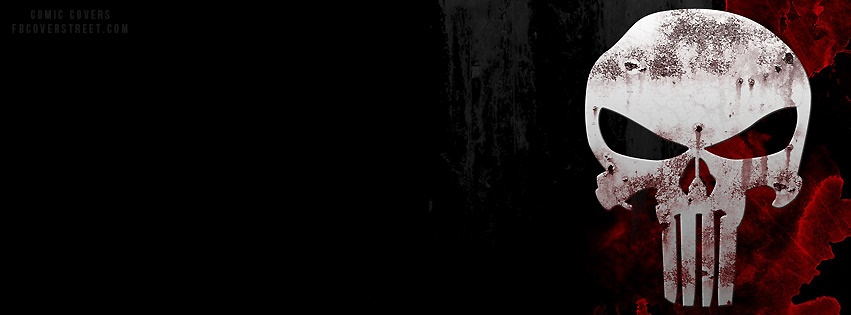 The Punisher Blood Logo Facebook Cover