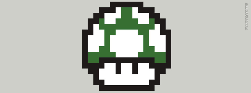Mario 1 Up Mushroom  Facebook cover