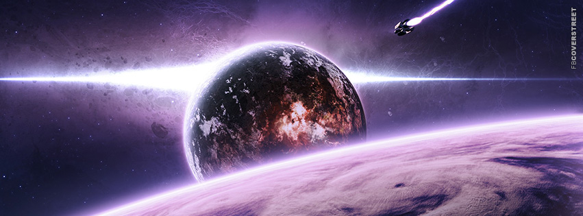 Abstract Purple Space Facebook Cover Fbcoverstreet Com