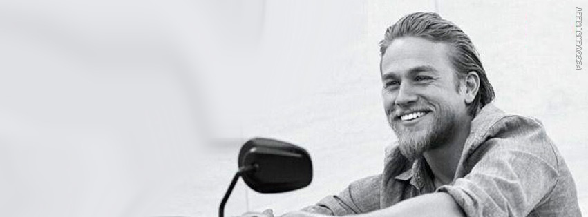 Charlie Hunnam Smiling Photograph Cover 2  Facebook cover