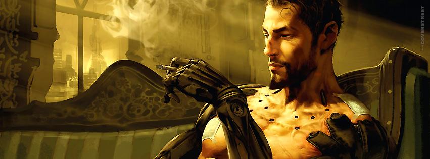 Deus Ex Human Revolution Adam Jensen Artwork  Facebook cover