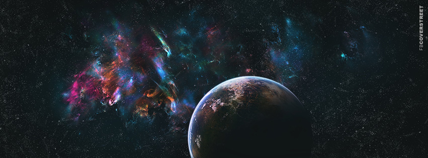 Planet and Abstract Space  Facebook cover