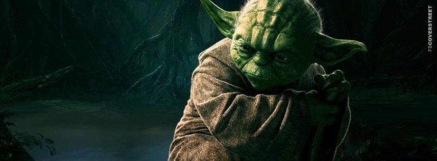 Yoda Star Wars CGI Facebook cover