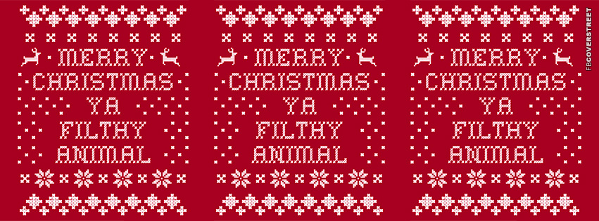 Merry Christmas Ya Filthy Animal Home Alone Pop Culture  Facebook cover