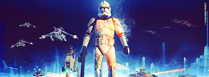 Battlefield 3 Star Wars Stormtrooper  Facebook Cover