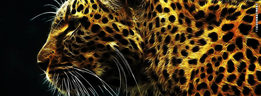 Neon Leopard Facebook cover