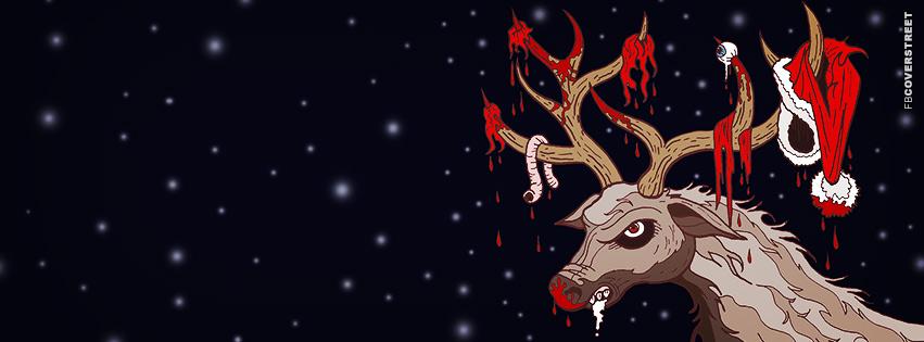 death deer facebook cover - Death Metal Christmas