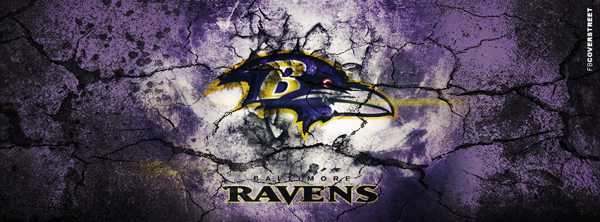 Baltimore Ravens Grunged Logo Facebook cover
