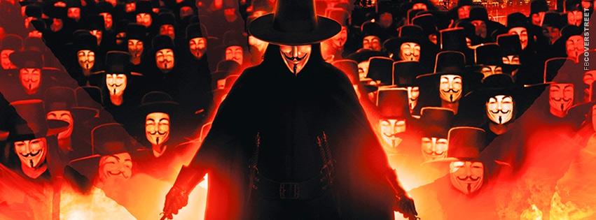 V For Vendetta Followers Facebook Cover