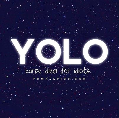 Yolo Carpe Diem For Idiots Facebook picture