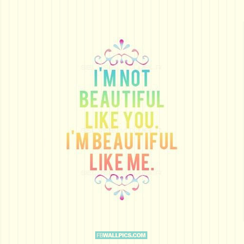 Im Beautiful Like Me Girly Quote  Facebook Pic