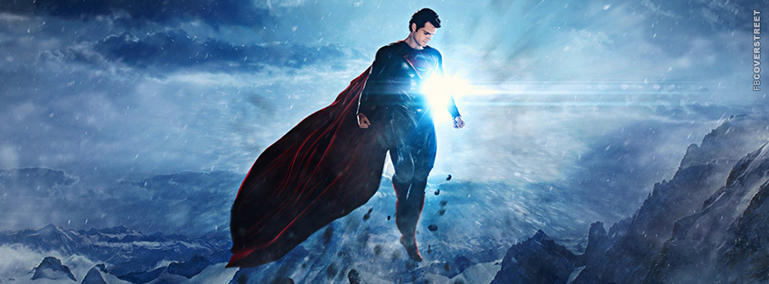 Man of Steel Superman Flying Facebook Cover