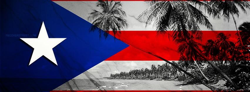 Puerto Rican Flag 2 Facebook Cover
