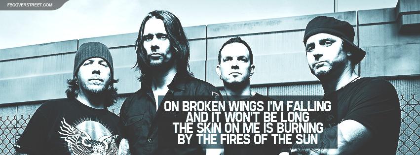 Alter Bridge Broken Wings Lyrics Facebook Cover