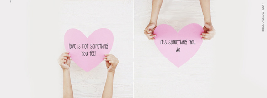 Love Is Something You Feel  Facebook cover