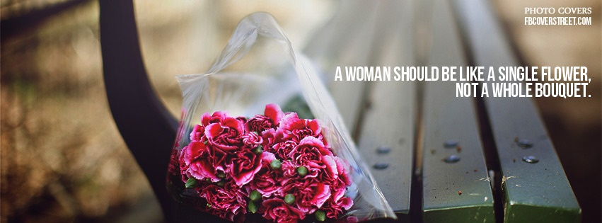 Single Flower Facebook Cover