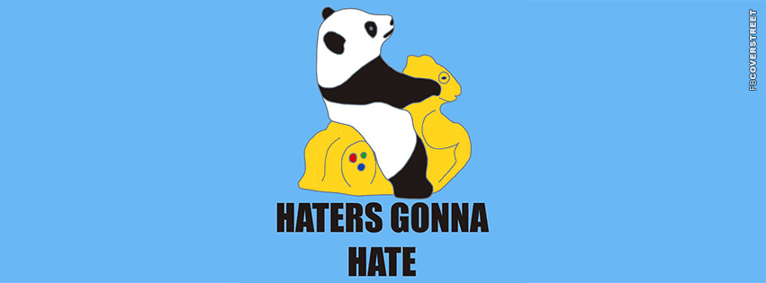 Haters Gonna Hate Panda  Facebook cover