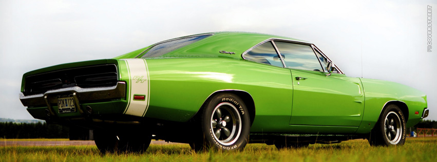 Dodge Charger RT Green  Facebook cover