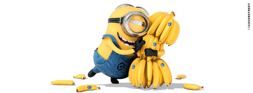 Despicable Me A Minion and His Bananas  Facebook Cover