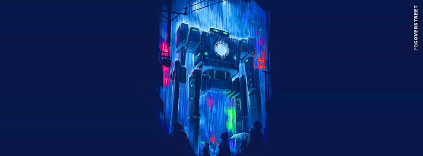 Blue Robot  Facebook cover