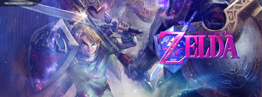 The Legend of Zelda Battle Artwork Facebook Cover