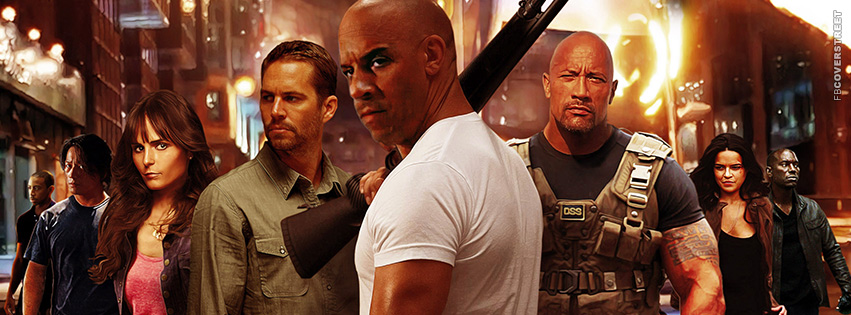 Fast and Furious Main Characters Collab Facebook cover