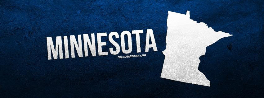 Minnesota State Shape Facebook Cover