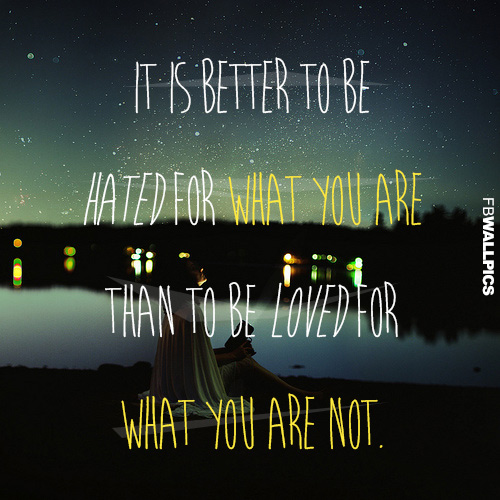 For What You Are Inspiring Quote Facebook picture