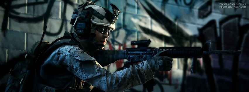 Battlefield 3 Aiming Soldier Facebook Cover