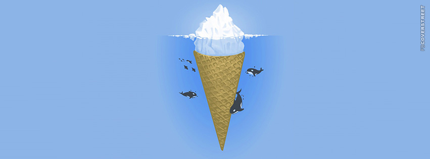 Whales Iceberg Cone  Facebook Cover