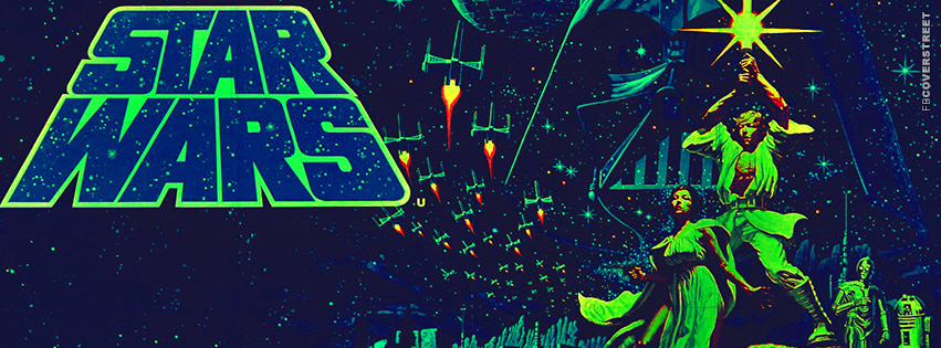 Star Wars Retro Old School Art Movie Facebook Cover