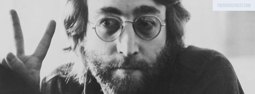 John Lennon Peace Black And White Facebook Cover
