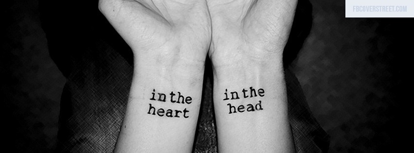 In The Heart Black and White Facebook Cover
