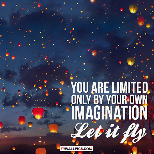 Let Your Imagination Fly  Facebook Pic