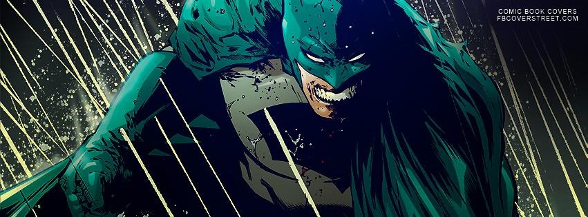 Batman Raining Comic Facebook Cover