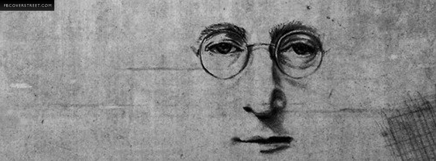 Lennon Graffiti Face Facebook Cover