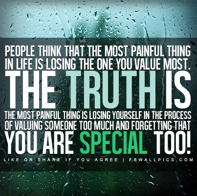 The Truth About The Most Painful Thing Quote Facebook Picture